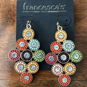 NWT adorable multicolored earrings.